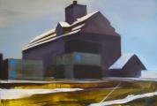 """""""Depó"""", 100x150 cm, akril, vászon, 2010"""