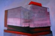 L.R.V.C.N., 100x150 cm, akril, vászon, 2014 | L.R.V.C.N., 100x150 cm, acrylic on canvas, 2014