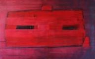 Gyors móló, 100x160 cm, akril, vászon, 2014 | Rapid Pier, 100x160 cm, acrylic on canvas, 2014
