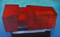 Vörös, 100x160 cm, akril, vászon, 2014 | Red, 100x160 cm, acrylic on canvas, 2014