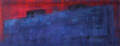 V.L.C.N., 60x140 cm, akril, vászon, 2014 | V.L.C.N., 60x140 cm, acrylic on canvas, 2014